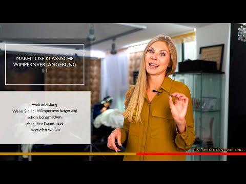 """Weiterbildung """"Makellose klassische Wimpernverlängerung"""" video"""