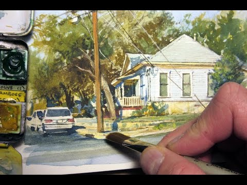 Realistic Watercolor of a House by James Gurney