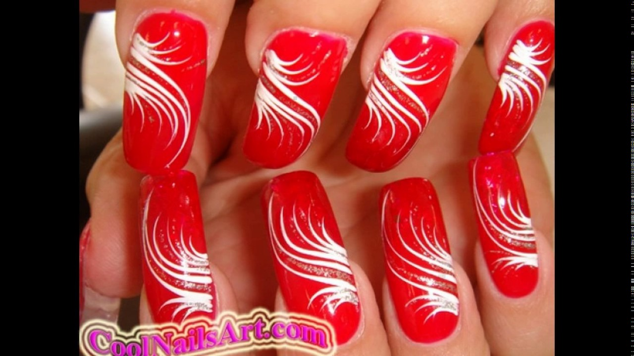 Nail line designs - Nail Line Designs - YouTube