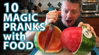 10 AMAZING Magic Pranks with FOOD
