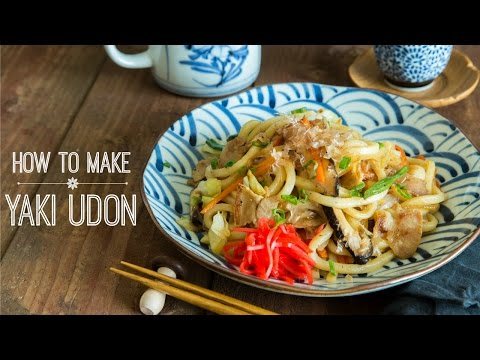 how-to-make-yaki-udon-(stir-fried-udon-noodles)-(recipe)-焼きうどんの作り方-(レシピ)
