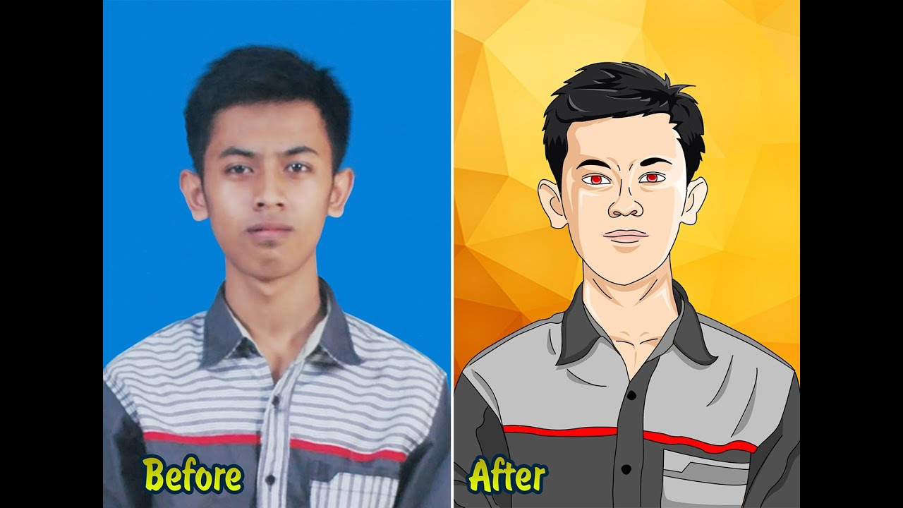 Tutorial photoshop how to make anime or cartoon effect with your tutorial photoshop how to make anime or cartoon effect with your pict self baditri Image collections