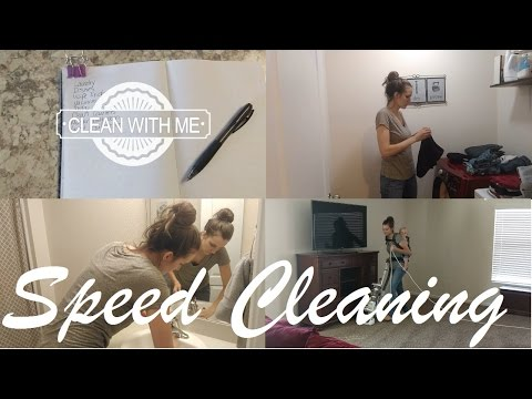 SPEED CLEANING MY HOUSE SAHM // POWER HOUR SPEED CLEAN // FLYLADY HOME BLESSING HOUR ROUTINE