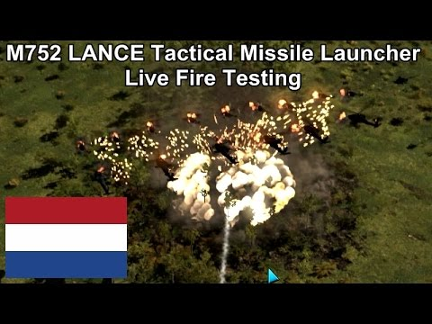 M752 LANCE Tactical Missile Launcher Testing against various targets