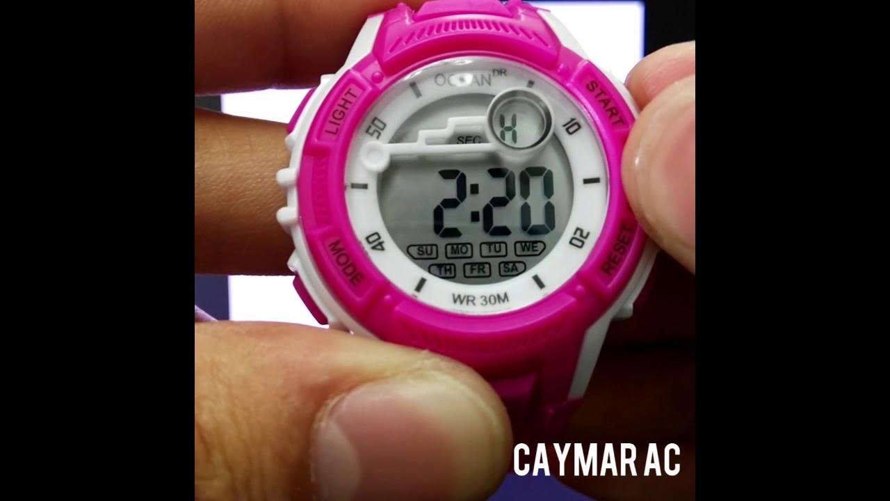 cajón La playa Paso  Como poner en hora un reloj digital? - Reloj Digital y sumergible Ocean -  YouTube