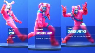 FORTNITE BATTLE ROYALE - ALL DANCE EMOTES (Season 4)