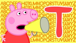 Peppa Pig 🔠 Letter T | Learn the Alphabet with Peppa Pig | ABC Letter Boxes | Learn with Peppa Pig