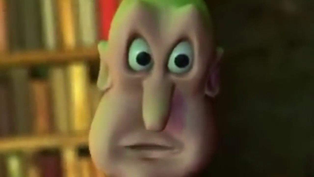 Globglogabgalab but bass boost vibrato and zoom on his face
