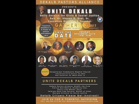 11/10/17 - UNITE DEKALB: Unity Service for Civil & Social Justice