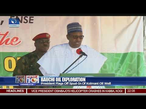 Pres Buhari Flags Off Spud-In Of Kolmani Oil Well In Bauchi