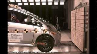Mitsubishi i-MiEV | Frontal Crash Test | 2012 | High Speed Camera | NHTSA Full Length test in HD