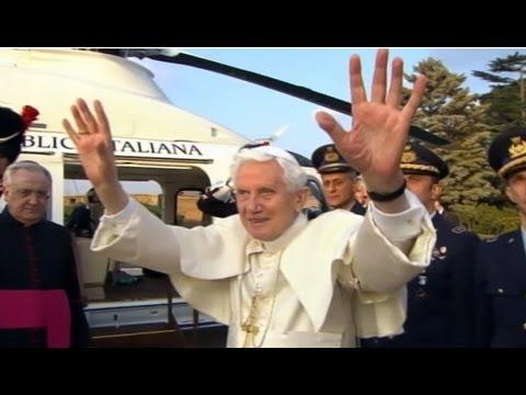 Pope Benedict XVI's Helicopter Ride to Castel Gandolfo