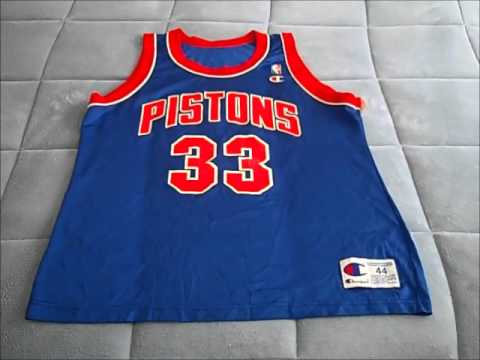 b06b1e446 ... Virtual Thrifting With SoleFoodSF! Vintage Detroit Pistons Grant Hill Champion  Jersey Sz.44 ...