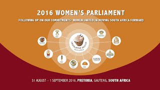 2016 National Women's Parliament ,1 September 2016 - Day2