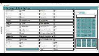 How to create a customer billing system in ms access, the tutorial, including embed database, print function, embedded calculator, receipt, calculat...