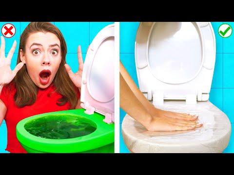 ЛЕНИВЫЕ ЛАЙФХАКИ ДЛЯ ВАННОЙ | Смешные Ситуации в Ванной от Ideas 4 Fun