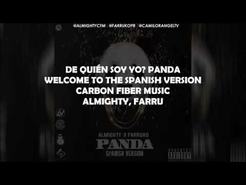 Blanco y Negro Como Panda: Letra