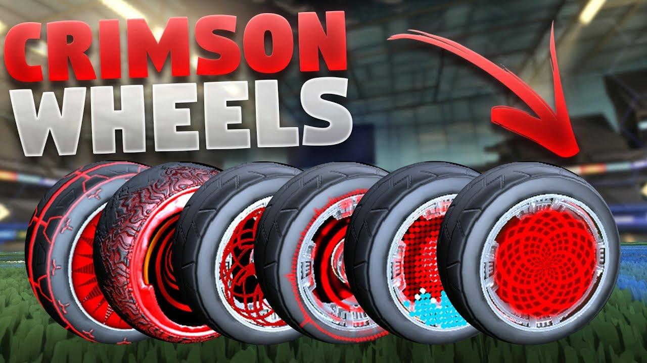 Every Crimson Painted Wheel In Rocket League So Far Showcase Youtube