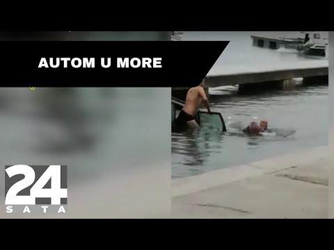 Snimka iz Biograda: Skočili u more i spasili vozača od smrti I Snimio čitatelj