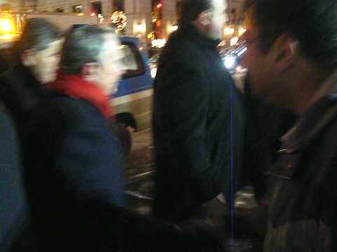 Michael Bloomberg Mayor of New York City - leaving Chanukah Menorah lighting