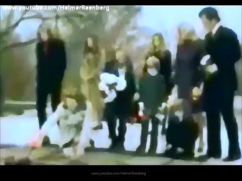 November 22, 1973 - Patricia, Ethel, Joan and Edward Kennedy at President John F. Kennedy's grave