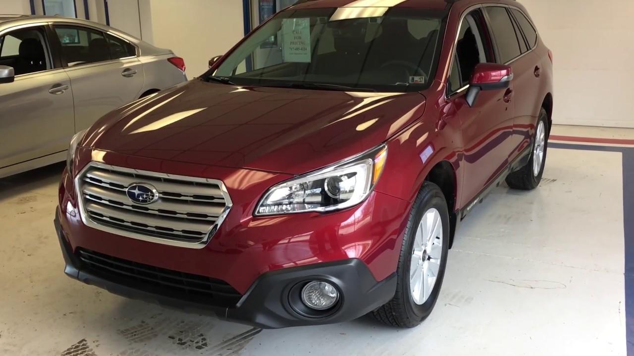 2017 Subaru Outback Premium Venetian Red Sz264838