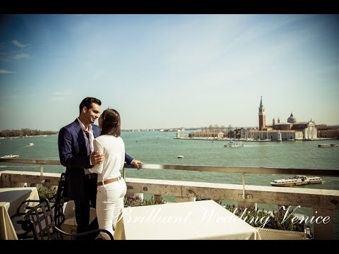 Venice, wedding proposal on a Terrace overlooking San Marco.
