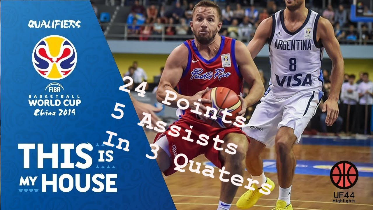 J.J Barea Full Highlights 17.09.2018 Argentina vs Puerto Rico - 24 Pts and 5 Asts!