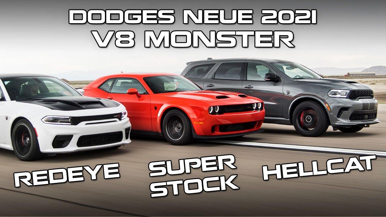 Dodges neue 2021 V8 Monster: Challenger Super Stock, Charger Redeye und Durango Hellcat