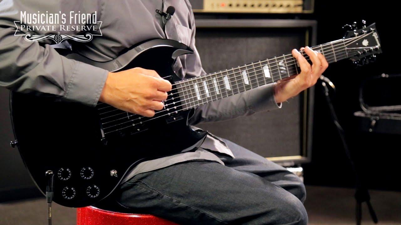 gibson sg dark 7 string electric guitar youtube. Black Bedroom Furniture Sets. Home Design Ideas