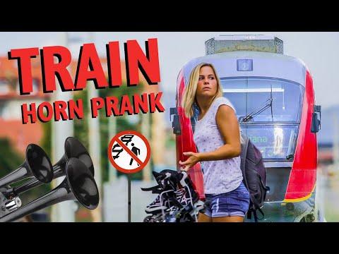 Hidden camera: Train Horn Prank on Railway Tracks | Dunking Devils