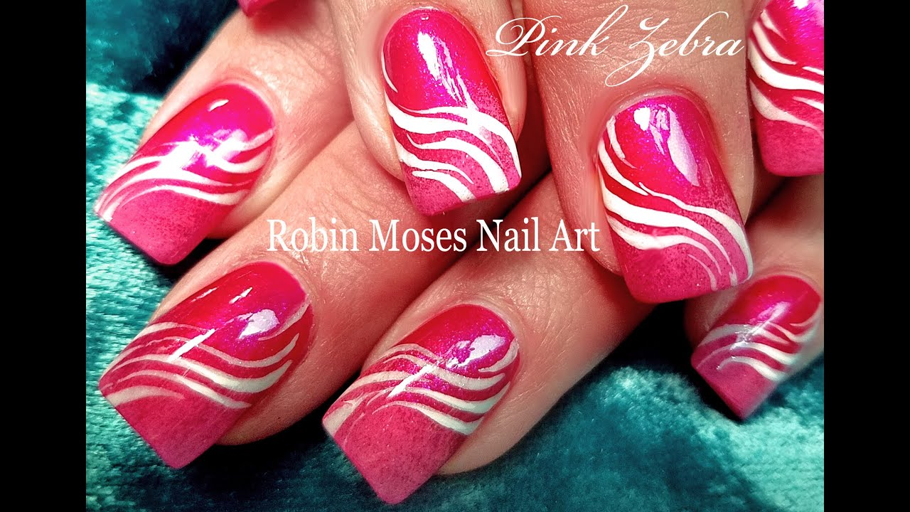 DIY Zebra Nails | Easy Animal Print Nail Art Design Tutorial - YouTube