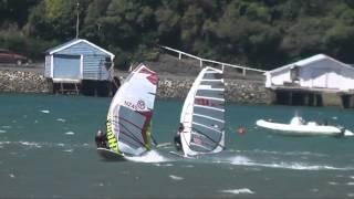 Day 2, 2014 Windsurfing Slalom Nationals  Dunedin, NZ