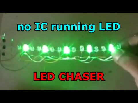 No IC running LED, LED chaser with 3 Transistor