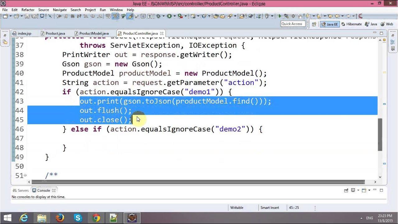 Parsing JSON Object with Ajax in JSP-Servlet