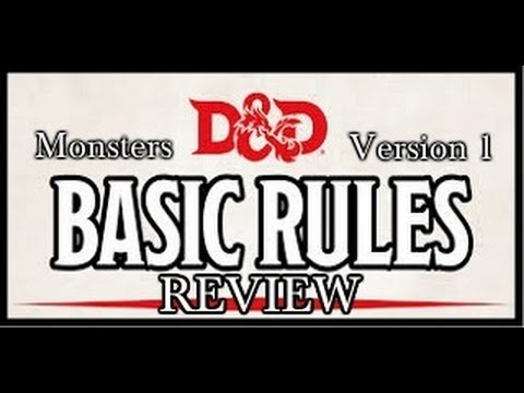 Dungeons Dragons 5e Dungeon Master Basic Rules V1 Youtube