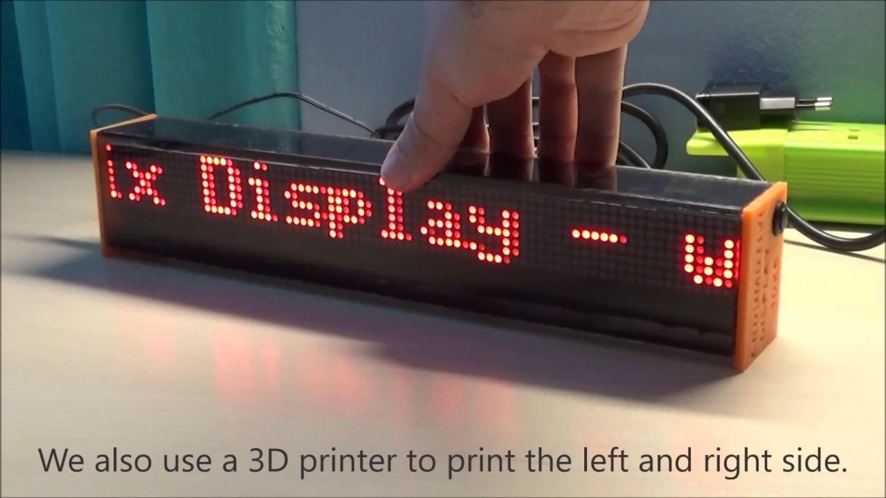 Arduino LED Matrix Display - 80x8 px - Ardumotive Arduino Greek