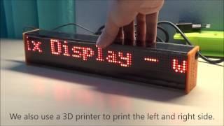 DIY Arduino LED Matrix Display from Ardumotive.com