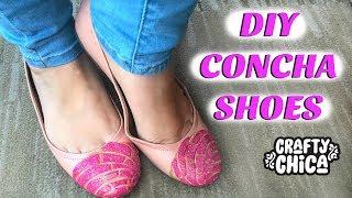 DIY Concha Shoes