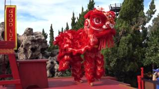 Chinese Lion Dancers - Epcot - Holidays Aroun...