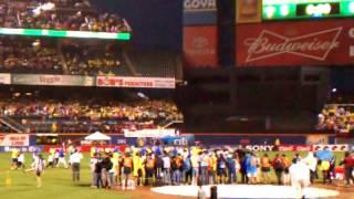 Chile vs Ecuador at Citi Field..Teams line up