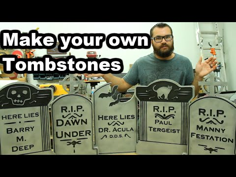 Make Your Own Tombstones - X-Carve