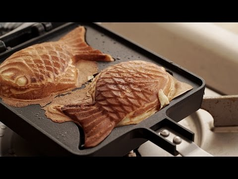 [4K] 붕어빵 :  Korean Street Food Bungeoppang (Fish-shaped Bread) | Honeykki 꿀키