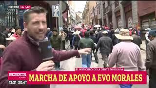 MASIVA MARCHA de APOYO a EVO MORALES en LA PAZ - El Noti de la Gente