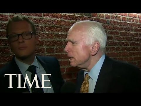 Senator John McCain Tries To Clarify His Odd Questions From The James Comey Hearing | TIME