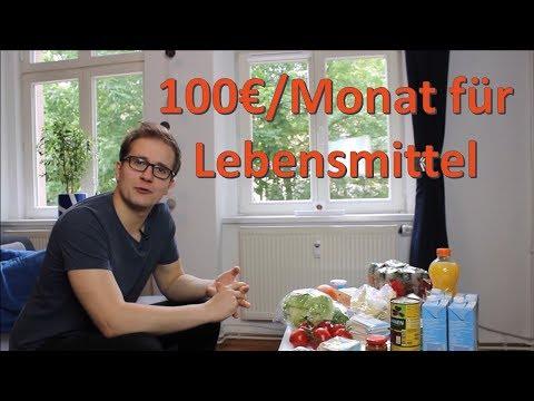 100€/Monat für Lebensmittel - Kosten reduzieren durch bewussten Konsum