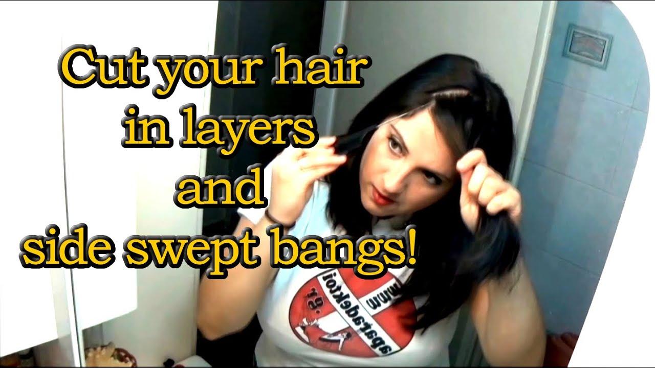 Πώς να κόψετε τα μαλλιά σας σε σκάλες και πλάγια φράντζα! ΜΟΝΕΣ ΣΑΣ! ΠΑΝΕΥΚΟΛΑ!