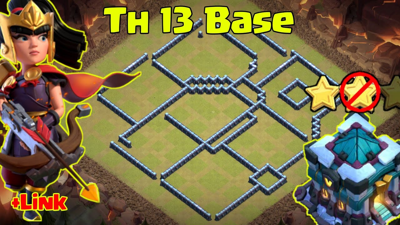 Clash of clans ll Base Th 13 with link ll Replay proof
