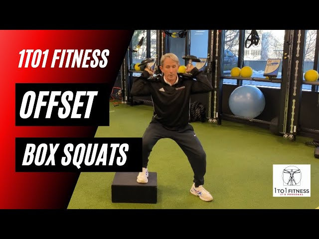 OFFSET BOX SQUATS To Promote Range of Motion