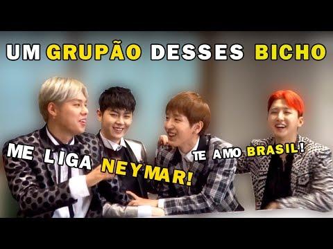 MASC REAGE AO BRASIL, FALA PORTUGUÊS E MOSTRA SEUS TALENTOS | Kpop Idols reacts to Brazil